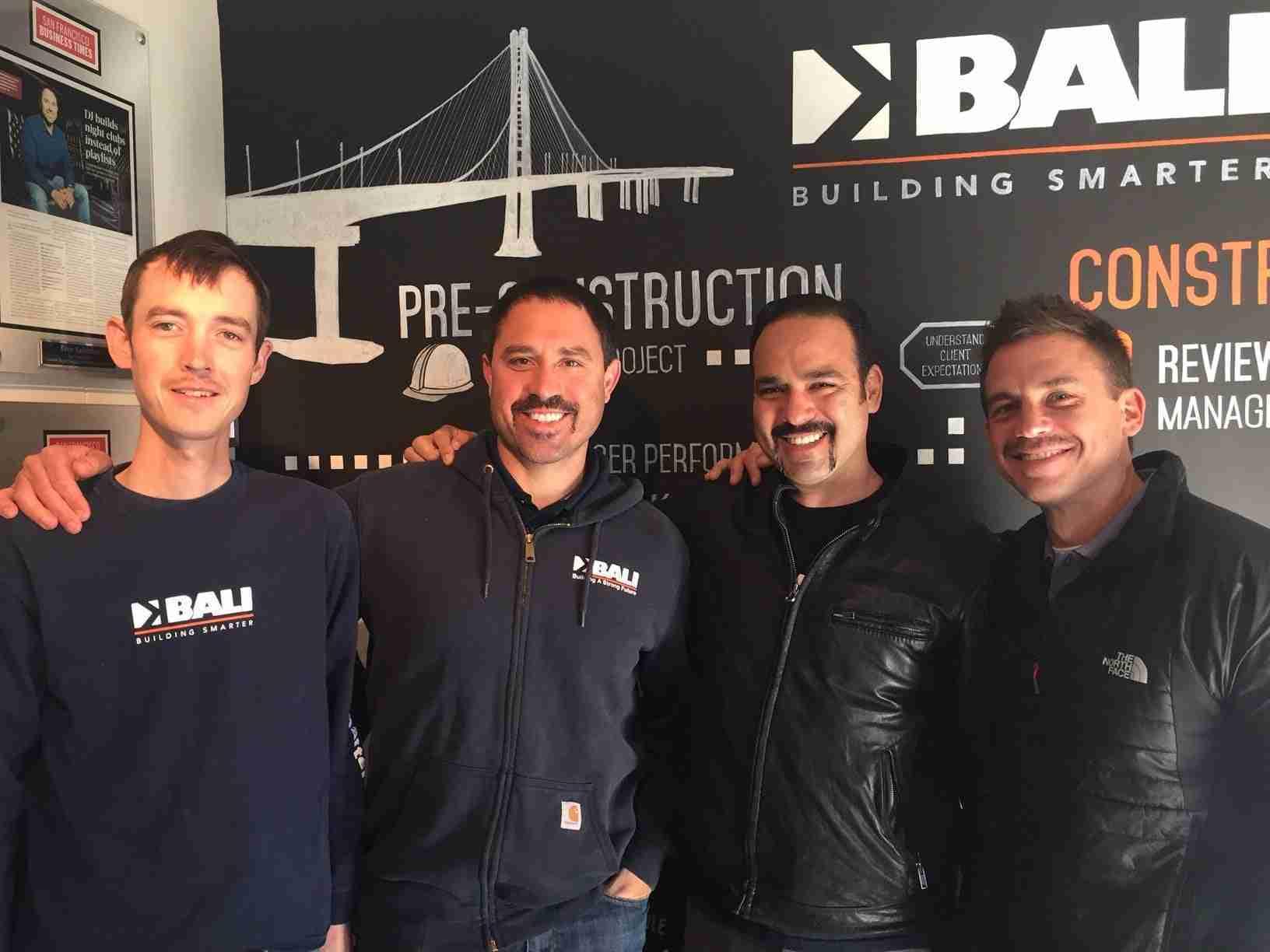 BALI Construction's Movember Fundraising Progress