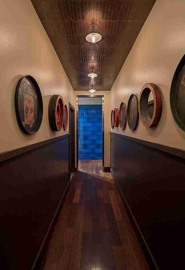 restaurant hallway design